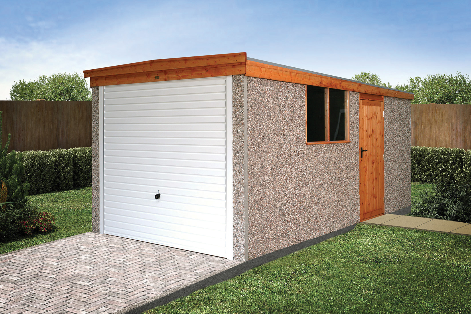 garage range hanson monarch prefab garages index concrete prefabricated sectional