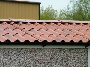 An Apex Roof on a pebbledash concrete garages