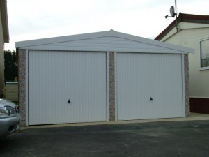 Double Apex garage concrete garages
