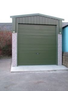 Prefab industrial buildings are available in many colours, this example is shown in green