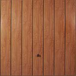 Hörmann Golden oak vertically ribbed Decograin roller shutter