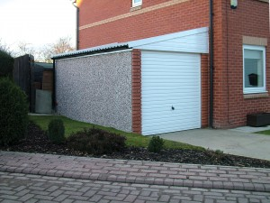 Leanto garages to suit any house like this example