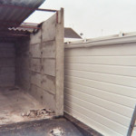 Demolition of old garage side wall