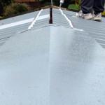 Metal revamp roof in metal being sealed
