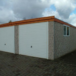 Lidget Compton flat roof Pent concrete garages