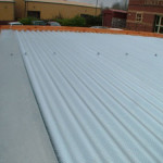 Installation of a flat roof