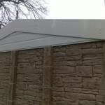 Rockstone garage showing white fascias