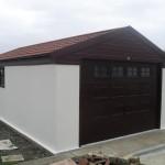 Lidget Compton Apex single garage showing Brown Pvcu fascias