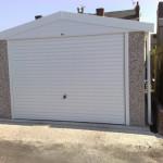 Apex Single Garage White Roller Door