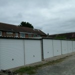 Battery Garages in White metal roof
