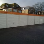 Battery Garages in White and timber
