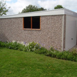 Pent Single Garage side view with window