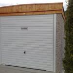 Pent Single Garage with light timber fascia