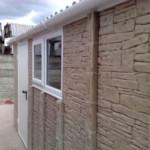 Rockstone garage side view with window