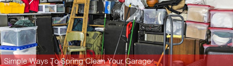 Simple Ways To Spring Clean Your Garage