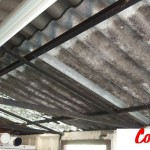 The existing fibre-cement roofing was showing signs of fatigue. Splits were evident and the roof had begun to leak.