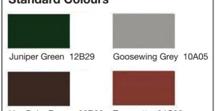 We can provide a roof in any colour of the rainbow