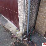 Damage to front pillars